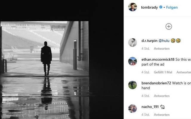 Tom Brady postete auf Instragram ein vielsagendes Schwarz-Weiß-Foto