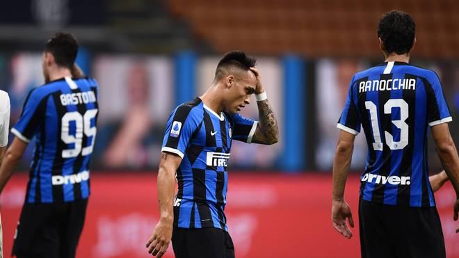 Den Spielern von Inter Mailand war nach Spielende die Enttäuschung anzusehen