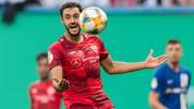 ROSTOCK, GERMANY - AUGUST 12: Hamadi Al Ghaddioui of VfB Stuttgart gestures during the DFB Cup first round match between Hansa Rostock and VfB Stuttgart at Ostseestadion on August 12, 2019 in Rostock, Germany. (Photo by Boris Streubel/Bongarts/Getty Images)