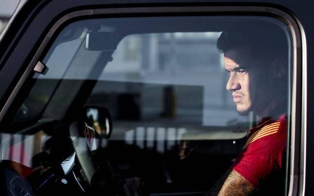 Philippe Coutinho bei seiner Ankunft zum Barca-Training