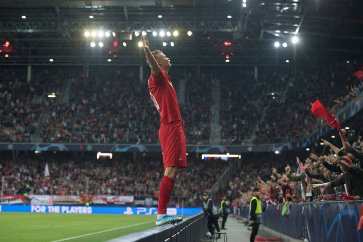 Erling Braut Haalands Debüt in der Königsklasse hätte nicht besser laufen können: Beim 6:2 seiner Salzburger über den KRC Genk gelangen dem Norweger gleich drei Treffer