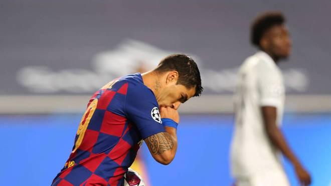 Atletico Madrid ist für Luis Suarez seine sechste Profi-Station nach Nacional Montevideo, FC Groningen, Ajax Amsterdam, FC Liverpool und Barcelona.