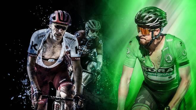 Marcel Kittel und Andre Greipel (l.) sind raus, Peter Sagan (r.) dominiert