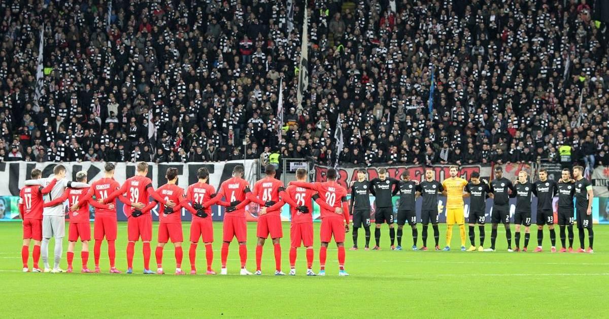 Europa League: Hymnen-Eklat bei Schweigeminute in Frankfurt, Hanau
