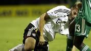 Auch 2007 im WM-Halbfinale ist für Kroos und Kollegen im Halbfinale gegen Nigeria Schluss