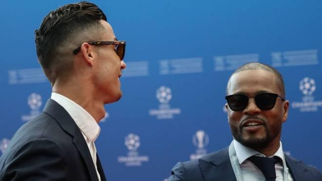 Bei der CL-Auslosung traf Patrice Evra auf seinen alten Teamkollegen Cristiano Ronaldo