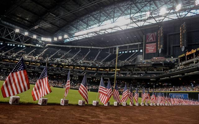 Chase Field, das Stadion der Arizona Diamondbacks, könnte der Ort des Neustarts trotz Pandemie werden