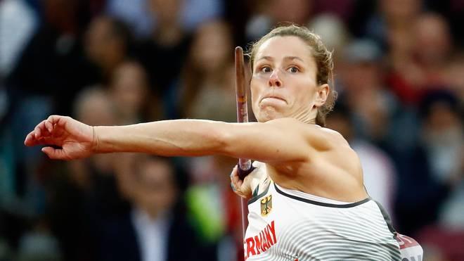Katharina Molitor kann ihren Titel im Speerwurf bei der Leichtathletik-WM nicht verteidigen