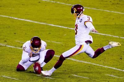 Kurz vor Schluss sehen die New York Giants gegen das Washington Football Team wie der  Sieger aus. Doch Washington-Kicker Dustin Hopkins sorgt für ein dramatisches Ende.