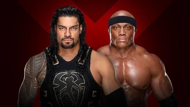 Bei WWE Extreme Rules 2018 trifft Roman Reigns (l.) auf Bobby Lashley