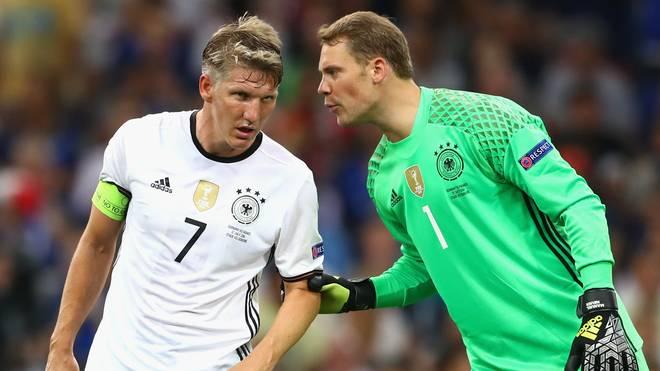 Manuel Neuer und Bastian Schweinsteiger wurden 2014 gemeinsam Weltmeister