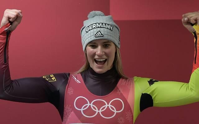Natalie Geisenberger hat in Innsbruck Grund zur Freude