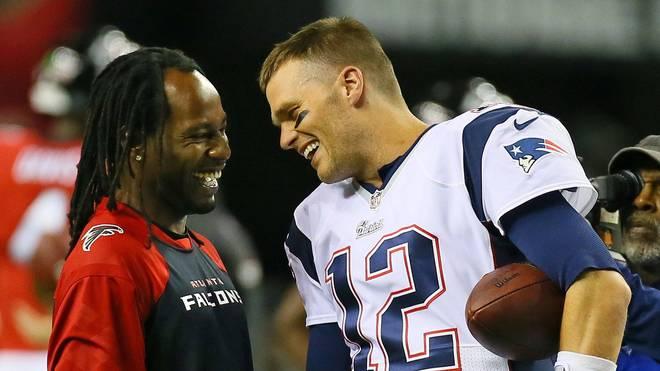 Vor seinem Engagement bei den Atlanta Falcons spielte Asante Samuel (l.) auch vier Jahre mit Tom Brady bei den Patriots