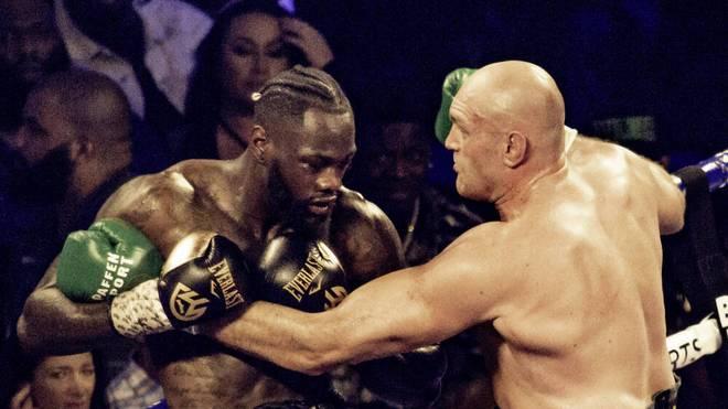 Deontay Wilder (l.) will sich gegen Tyson Fury den Schwergewichtstitel sichern