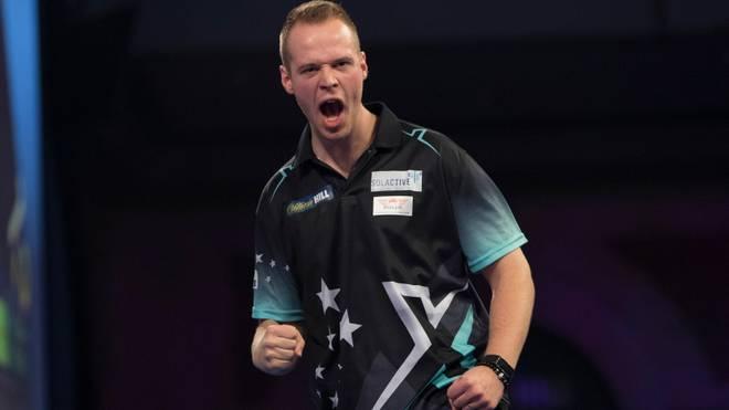 Max Hopp steht beim Dutch Darts Masters in der zweiten Runde
