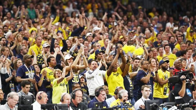 Die Fans wie hier von Michigan Wolverines werden bei March Madness weitgehend ausgesperrt