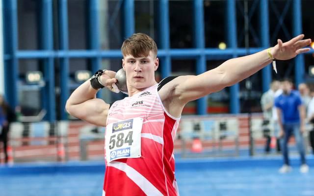Steven Richter bei den Deutschen Jugend-Hallenmeisterschaften