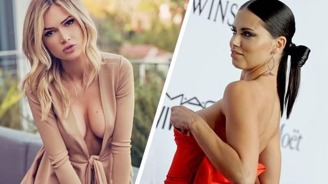 Models nach Julian Edelmans Geschmack: Ella Rose (l.) und Adriana Lima