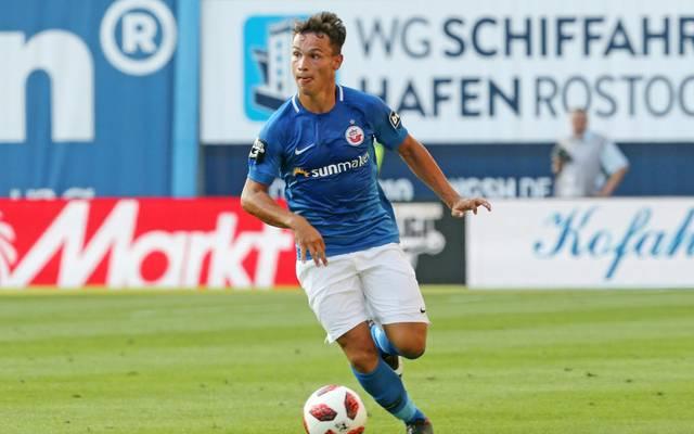 Lukas Scherff erzielte den ersten Treffer für Hansa Rostock