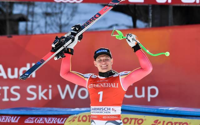 Thomas Dreßen raste auf seiner Heimstrecke zu seinem vierten Weltcup-Sieg
