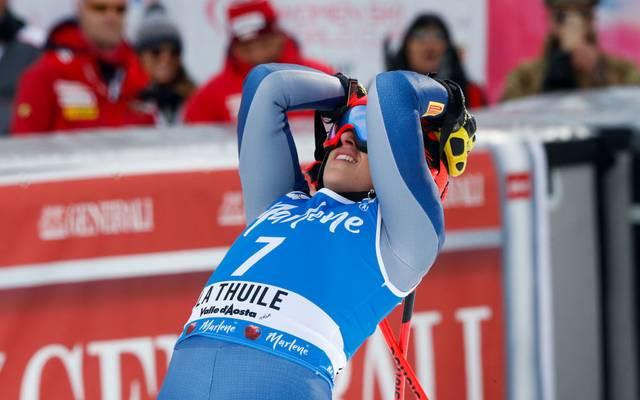 Federica Brignone hat den Sieg im Super-G knapp verpasst