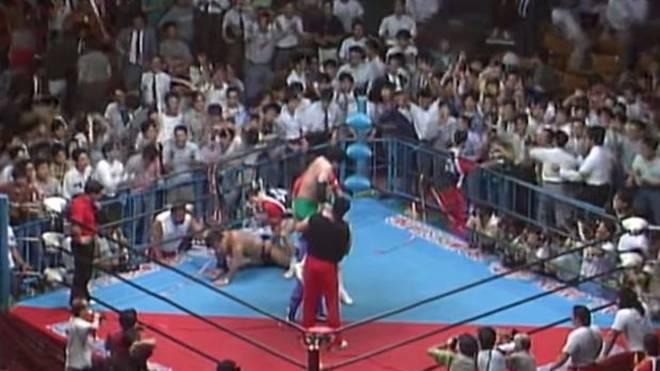 Das Match von Mitsuhara Misawa gegen Jumbo Tsuruta sorgte für völlige Ekstase