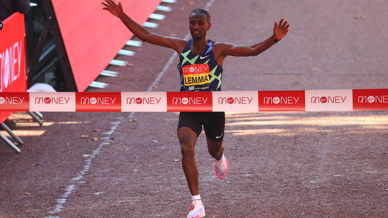 Sisay Lemma gewann den London Marathon