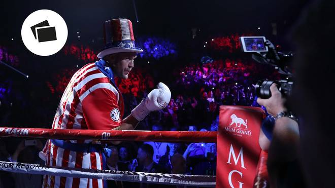Tyson Fury lief im USA-Outfit in den Ring