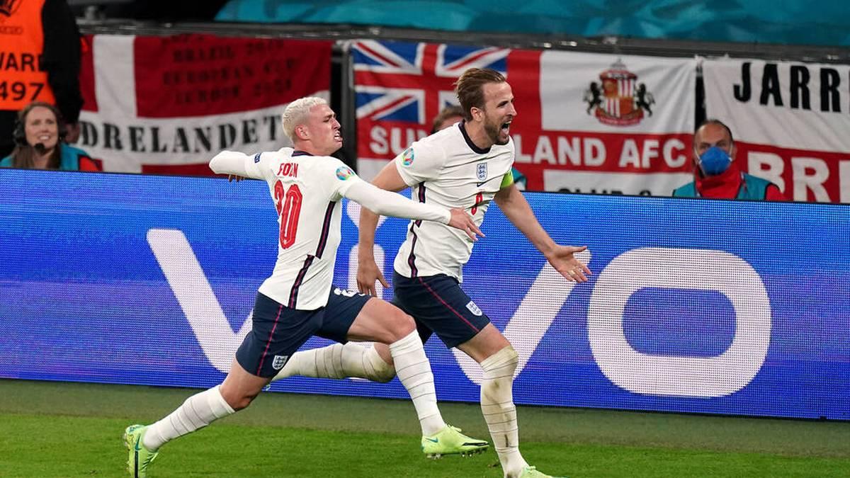 Harry Kane (r.) führte England ins EM-Finale