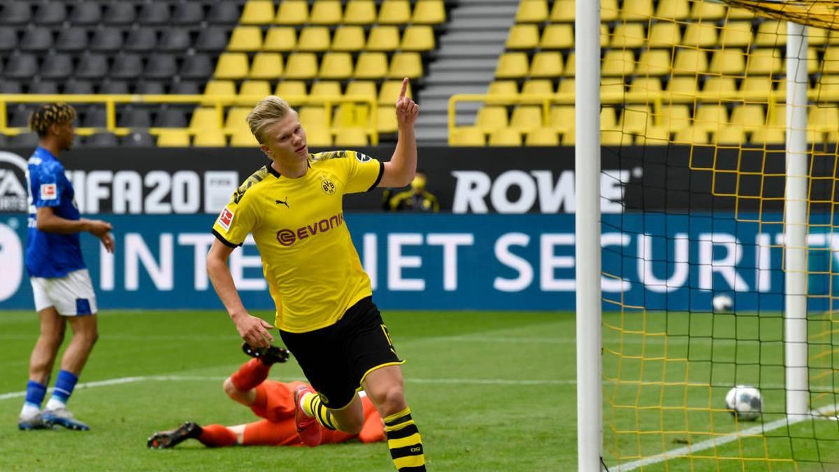Erling Haaland erzielte den ersten Bundesliga-Treffer nach der Corona-Pause