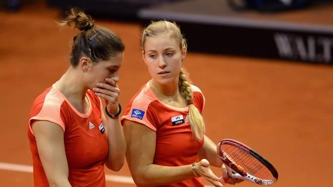 Andrea Petkovic und Angelique Kerber aus Deutschland beim Fed Cup im Einsatz