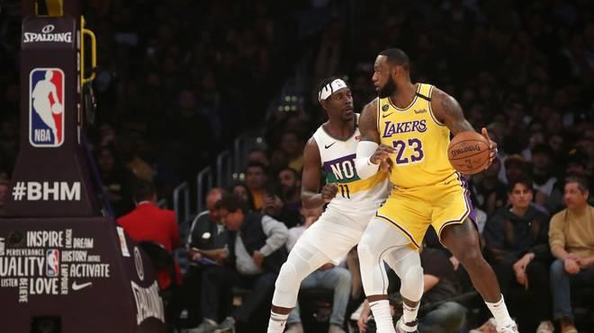 LeBron James war der überragende Mann beim Sieg der Los Angeles Lakers gegen die New Orleans Pelicans