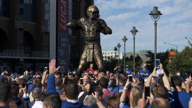 Peyton Manning wurde in Indianapolis ein Denkmal gesetzt