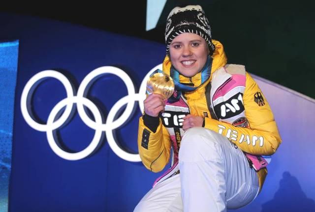 Viktoria Rebensburg gewann 2010 Olympia-Gold im Riesenslalom