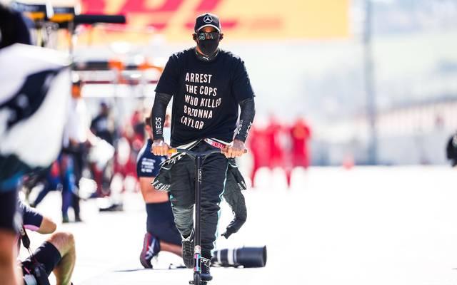 Lewis Hamilton trug am vergangenen Sonntag dieses T-Shirt