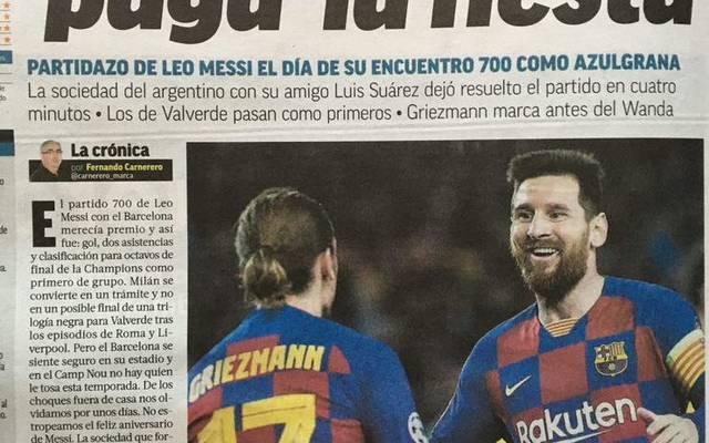 Die Marca lobt Barca