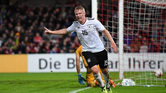 Philipp Ochs erzielte zwei Tore für die deutsche U21 gegen Aserbaidschan