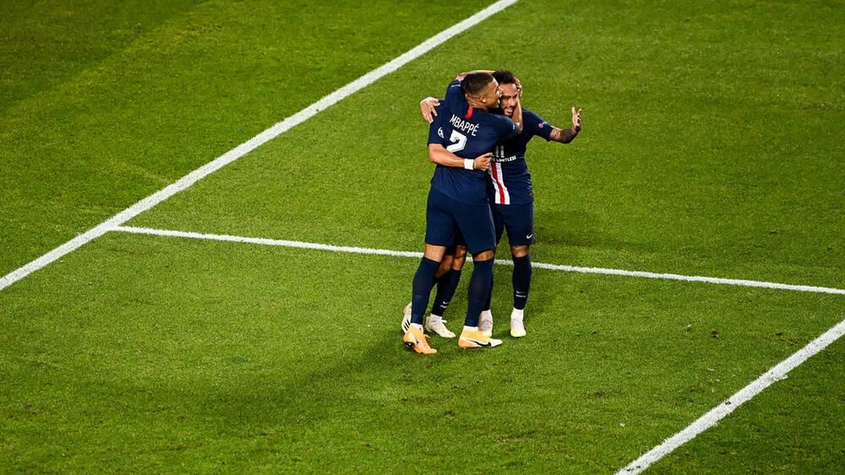 Da war die Welt noch in Ordnung: Mbappé und Neymar jubeln beim Champions League Finalturnier 2020