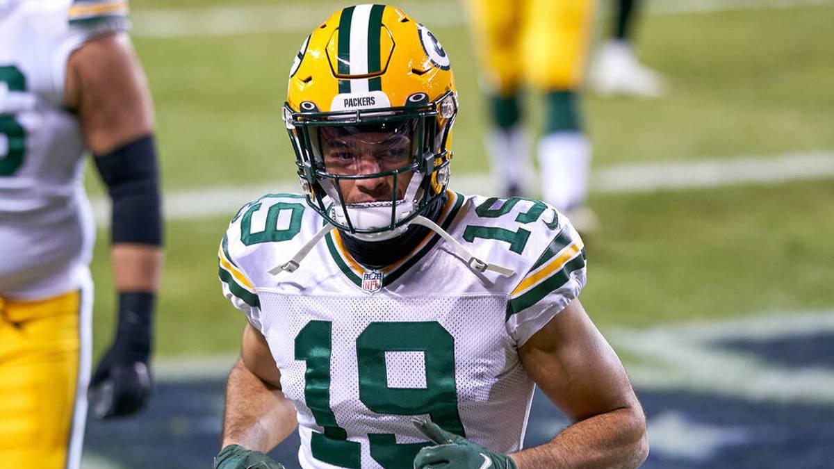 Equanimeous St. Brown wurde von den Packers für das Spiel gegen die Lions in den Kader berufen