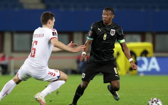 David Alaba (r.) und Österreich gingen gegen Dänemark unter