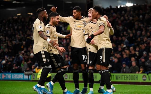 Manchester United bejubelt den Sieg gegen Burnley