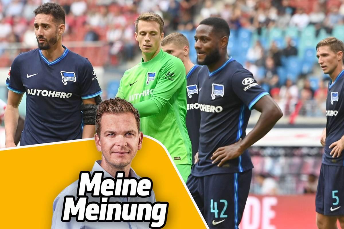 Die Berliner enttäuschen in Leipzig zum wiederholten Mal. Am Trainer allein liegt es nicht, sagt SPORT1-Kolumnist Tobias Holtkamp.