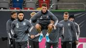 German national football team's Robin Koch and teammates take part in a training session ahead of the UEFA EURO 2020 qualification football match between Germany and Belarus on November 13, 2019 in Duesseldorf, western Germany. (Photo by INA FASSBENDER / AFP) (Photo by INA FASSBENDER/AFP via Getty Images)