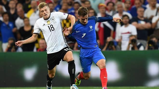Auf Toni Kroos (l.) und das DFB-Team warten Frankreich, England, Spanien und Brasilien