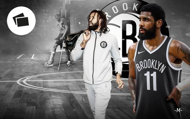 Die Brooklyn Nets mit Kyrie Irving (r.) und DeAndre Jordan (m.) müssen im kommenden Jahr auf Kevin Durant verzichten
