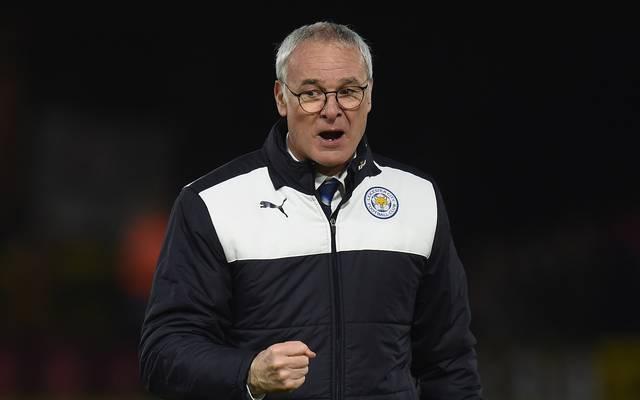 Trainer Claudio Ranieri führt mit Leicester die Tabelle in England an