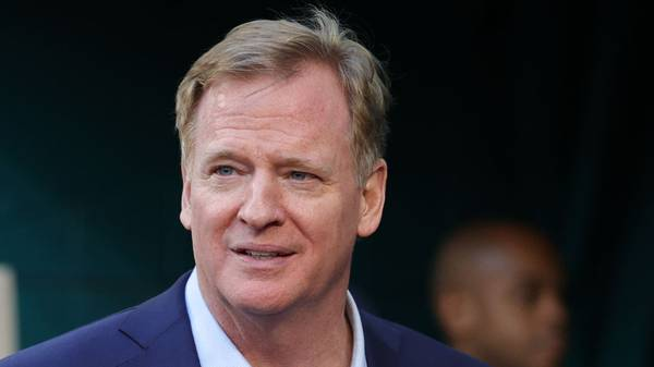 MIAMI, FLORIDA - FEBRUARY 02: NFL Commissioner Roger Goodell looks on before Super Bowl LIV between the Kansas City Chiefs and the San Francisco 49ers at Hard Rock Stadium on February 02, 2020 in Miami, Florida. (Photo by Maddie Meyer/Getty Images)