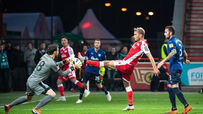 Union Berlin gewann das Hinspiel gegen Kiel mit 2:0