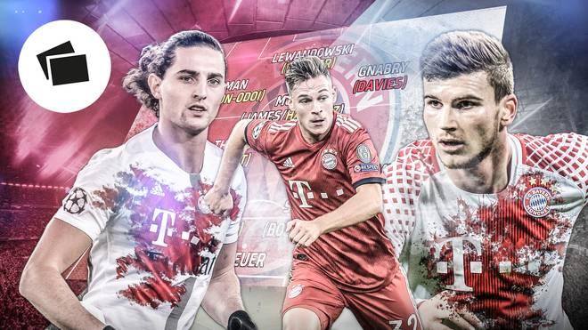 Adrien Rabiot (l.) und Timo Werner (r.) werden als Zugänge beim FC Bayern gehandelt