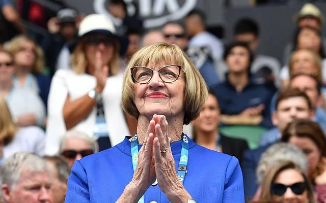 Margaret Court ist mit 24 Grand-Slam-Titeln Rekordgewinnerin bei den vier großen Turnieren